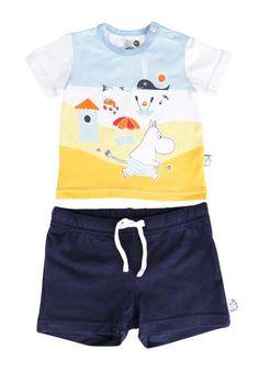 Muumi, T-paita ja shortsit, Valkoinen/tummansininen KOKO 80. 25,90€ Trunks, Swimming, Swimwear, Fashion, Drift Wood, Swim, Bathing Suits, Moda, Swimsuits