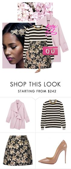 """""""My Instagram!"""" by chebear ❤ liked on Polyvore featuring Vince, Gucci, Alice + Olivia, Christian Louboutin and stripes"""