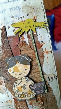 Mixed Media Art Journal Layout: 'Too Much Tea' by Kate's Scrap Yard