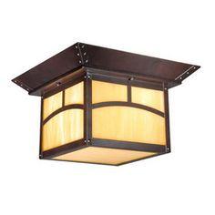 Cascadia Lighting�Taliesin 11-1/2-in Bronze Outdoor Flush-Mount Light