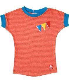 Retro-Rock-and-Robots schattige oranje parade T-shirt voor meisjes. nl.emilea.be