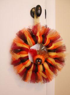Thanksigiving Tulle Wreath