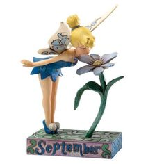 Enesco Disney Traditions Designed by Jim Shore September Tinker Bell Figurine in Tinkerbell And Friends, Peter Pan And Tinkerbell, Disney Fairies, Disney Figurines, Fairy Figurines, Collectible Figurines, Hades Disney, Disney Disney, Disney Dolls