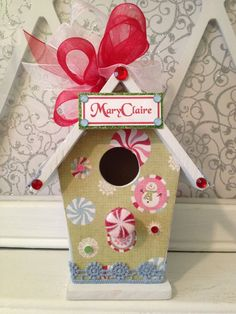 Birdhousegiftgallery.etsy.com Please come visit our Etsy shop and place your custom order for a personalized Christmas ornament today! :)