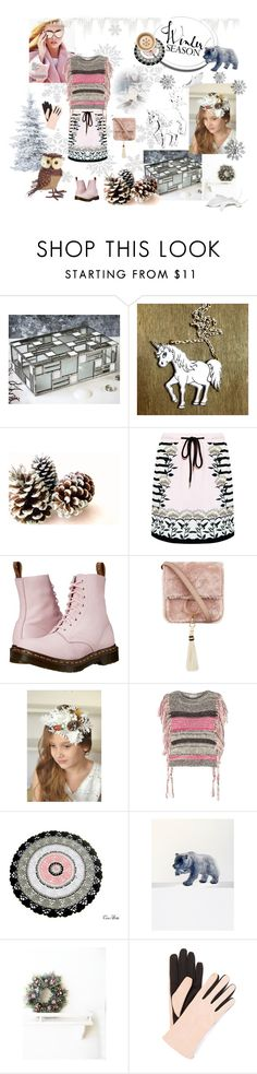 """""""Winter fashion look"""" by vualia ❤ liked on Polyvore featuring Markus Lupfer, Dr. Martens, Brother Vellies, Isabel Marant, Gloves International, Melrose International, Winter, Christmas, fashionlook and christmasdecor"""