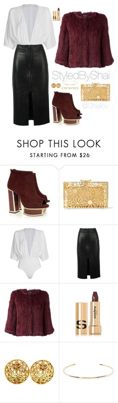 """""""Committed"""" by slimb on Polyvore featuring Kat Maconie, Charlotte Olympia, WithChic, Tom Ford, Yves Salomon, Sisley, Chanel, Jennifer Fisher, Joanna Laura Constantine and StyledByShai"""