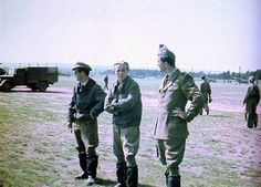WWII Hungarian Air Force aces: Sgt. Janos Matyas (5 victories), Lt. Gyorgy Debrody (26 victories) and Lt. Laszlo Molnar (25 victories).