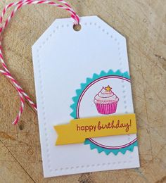 Occasional Crafting: PTI Color birthday tag