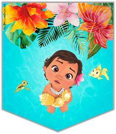 Moana Disney, Disney Art, Moana Hawaiian, Hawaiian Art, Moana Theme Birthday, 2nd Birthday Parties, Moana Party Invitations, Birthday Invitations, Festa Moana Baby
