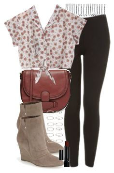 """Lydia Inspired Outfit with Leggings"" by veterization ❤ liked on Polyvore featuring Topshop, BOBBY, ASOS, Kristin Cavallari, Forever 21 and Bobbi Brown Cosmetics"