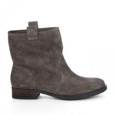Natasha round toe boot - Dark Mushroom//
