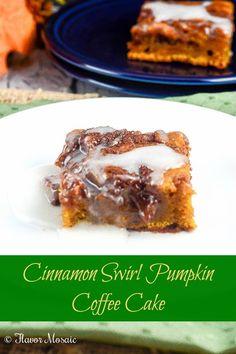 Cinnamon Swirl Pumpkin Coffee Cake