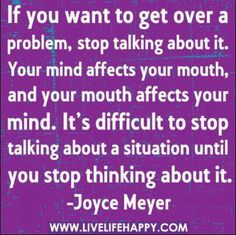 how to stop being upset over something