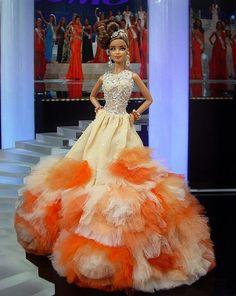 Barbie Ninimomo Miss Florida 2013 Miss Pageant, Barbie Miss, Diva Dolls, Beautiful Barbie Dolls, Pageant Gowns, Black Barbie, Barbie Collection, Barbie World, Barbie Friends
