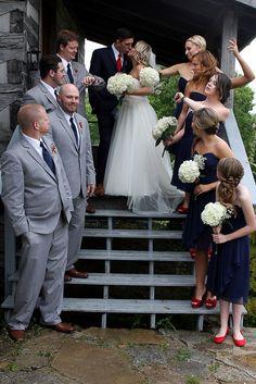 Fun Bridal Party Photo at Kentucky Wedding