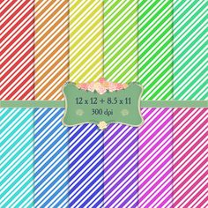 Digital Paper Fun Checker Birthday Abstract Zigzag Surprise Chevron Geometric Background Pattern Celebrate Set Zig-zag Greeting Birthday