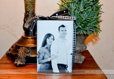 Couple's Photo Block! Cute and so simple but could also be used with other pics for other gifts.