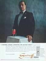 Smirnoff George Jessel 1979 Ad Picture