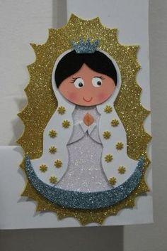 lembrancinha igreja Foam Crafts, Diy And Crafts, Crafts For Kids, Paper Crafts, Arabian Party, Birthday Bulletin Boards, Catholic Crafts, Baptism Party, Punch Art