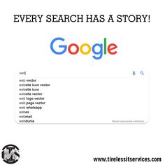 Every search has its own story & momentum. It is why a search makes such an excellent plot for a film or a story. Digital Marketing Services, Seo Services, Website Icons, Search Engine Optimization, Web Development, Storytelling, Ecommerce, Web Design, Film