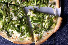 shaved asparagus pizza | smittenkitchen.com