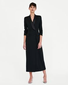 LONG SHAWL COLLAR DRESS-NEW IN-WOMAN | ZARA United States