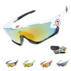 EOC Professionele Gepolariseerde Fietsbrillen Bike Goggles Rijden Vissen Outdoor Sport Zonnebril UV 400 3 Lens TR90 6 kleur