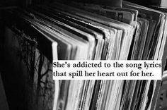 Song lyrics. Music.