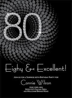Diamond 80th Birthday Invitations by Invitation Duck