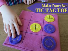 Make Your Own Felt Tic Tac Toe Game. Great for travel or waiting times. Also useful in the classroom for early finishers.