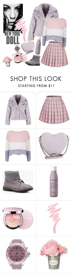 """0.00.103"" by estrellica ❤ liked on Polyvore featuring Boohoo, Rebecca Minkoff, Living Proof, Guerlain, Victoria's Secret, Hemingway, KYBOE! and polyvoreeditorial"