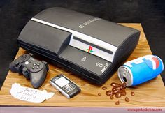Of all the console cakes around, this PS3 cake by Pink Cake Box, accessorized with a Blackberry and spilled Pepsi can, might best capture the gaming lifestyle for those truly dedicated few.