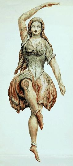 Giclee print of vintage wooden statue of dancing woman, available from Hub Green in Pittsfield. Famous Pirates, Wall Art Prints, Fine Art Prints, Ship Figurehead, Wooden Statues, Magical Creatures, Collage Art, Sailing Ships, Folk Art
