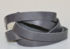10 mm  Gray Genuine Leather Strap by JLLeatherSupplies on Etsy