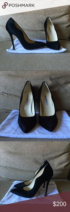 """Brian Atwood Besame calf hair pumps sz 9 40 Worn once! Super stylish heels by luxury designer Brian Atwood Besame pumps in EURO 40 = US 9. Only sign of wear is on sole, uppers are perfect. Genuine Calf hair upper, leather soles.    Heel is 4.5"""" high, too high for me now :(  This price is a STEAL!! Currently in season Brian Atwood Shoes Heels"""