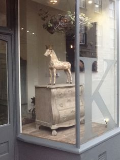 French Antique Horse wearing Decorative crown