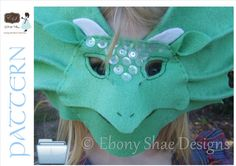 On Etsy: Dragon Mask and Frill Neck Lizard Mask PATTERN. For children 1 year & older.  INSTANT DOWNLOAD