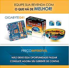 E-mail marketing de uma placa-mãe da marca Gigabyte.