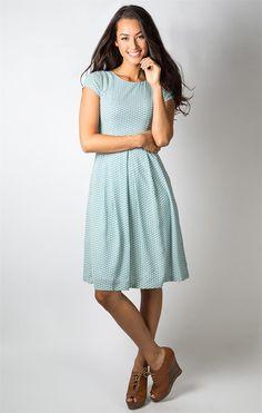 Sidewalk Sunday Dress - blue