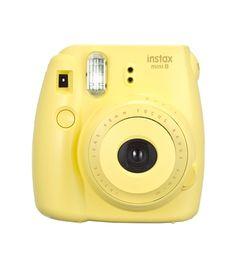 De instax is er ook in zonnig geel. Een kleur om vrolijk van te worden.