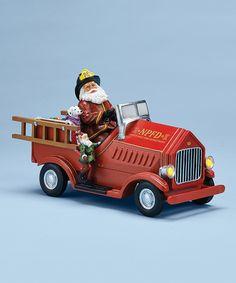 Santa's Fire Truck Music Box
