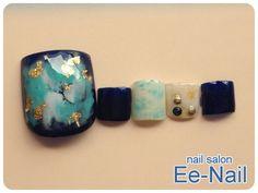 新作フットネイル☆鉱石マーブルネイル Pedicure Designs, Creative Nail Designs, Pedicure Nail Art, Toe Nail Designs, Toe Nail Art, Chic Nail Art, Chic Nails, Fancy Nails, Pretty Nails
