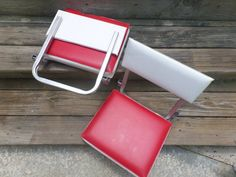 Vintage Stadium Bleacher Chair Folding Game by TheFlyingHostess