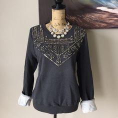 REBECCA MINKOFF Bejeweled Sweater ⭐️FLASH SALE⭐️ Perfect sweater for the perfect gal! Rebecca Minkoff Sweaters