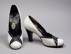 Pumps 1945, American, Made of leather and suede