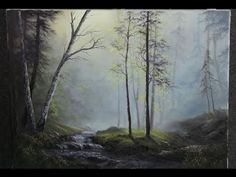 How to paint: Abstract Acrylic Landscape   Misty Forest Painting Lesson By Samuel Durkin - YouTube