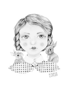 #ElementEdenArtSearch Dear Gretel Illustration by Kirbee Lawler - Pencil on Paper.