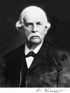 Albert con Kölliker ( 🇨🇭 Zürich, 1817 -Wurzburgo, 1905). Anatomista. Destacó por sus estudios de citología e histologia y por sus tratados de Embriología. El órgano de Kolliker es el precursor embrionario de la cóclea.