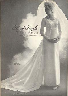 An Alfred Angelo Original designed by Edythe Vincent, vintage designer fashion bride ad