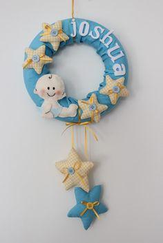 Felt baby name wreath